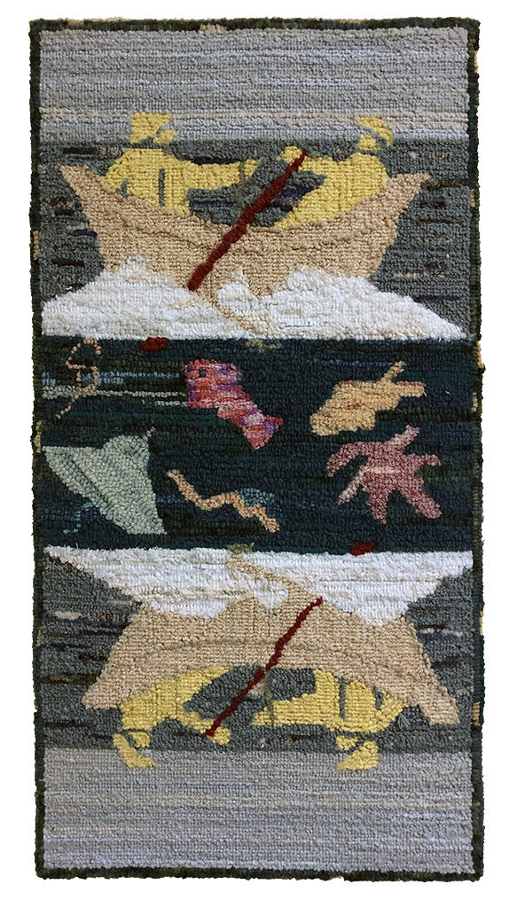 Sally Perodeau. The Fisherman. Adaptation of a textile design