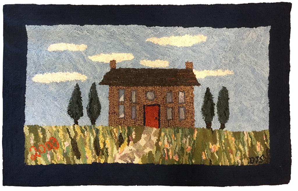 Debbie Séguin, My First Rug. Adapted  from a Stencil for Tole Painting