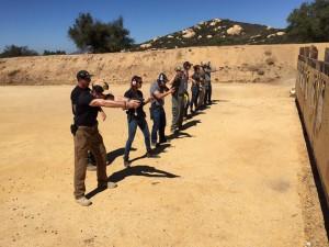 students shooting targets