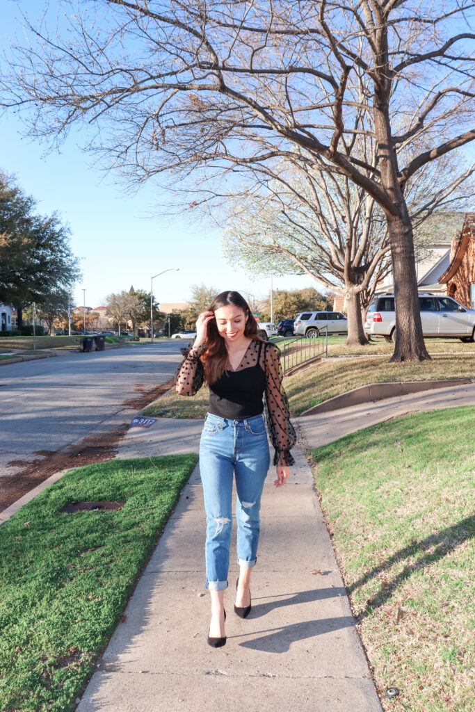 walking down a sidewalk