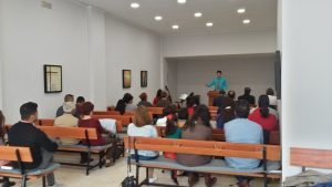 Preaching in the new building God provided for my father-in-law's church