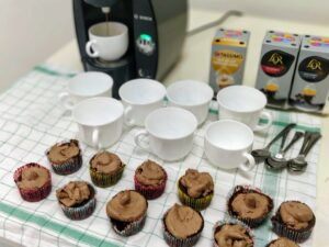 Coffee and cupcakes at church