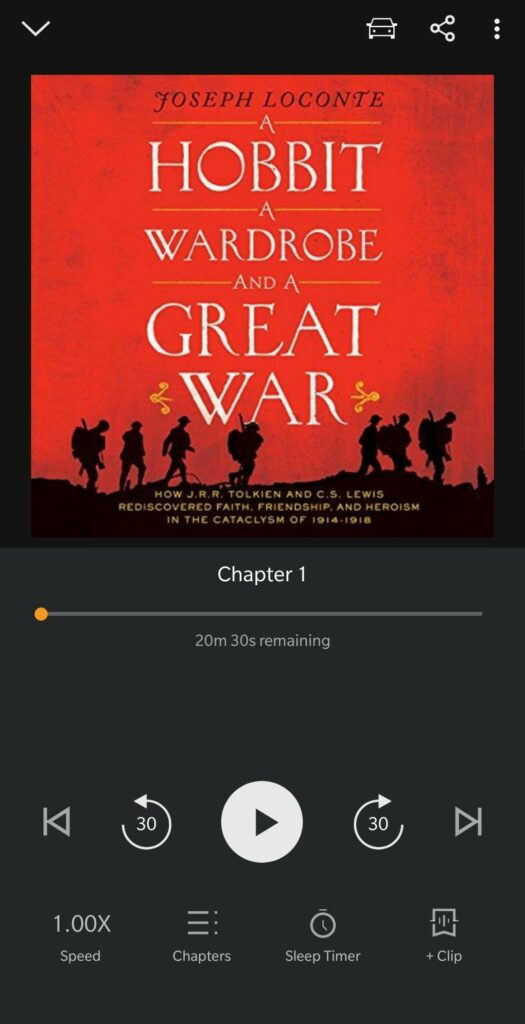An audiobook on my phone