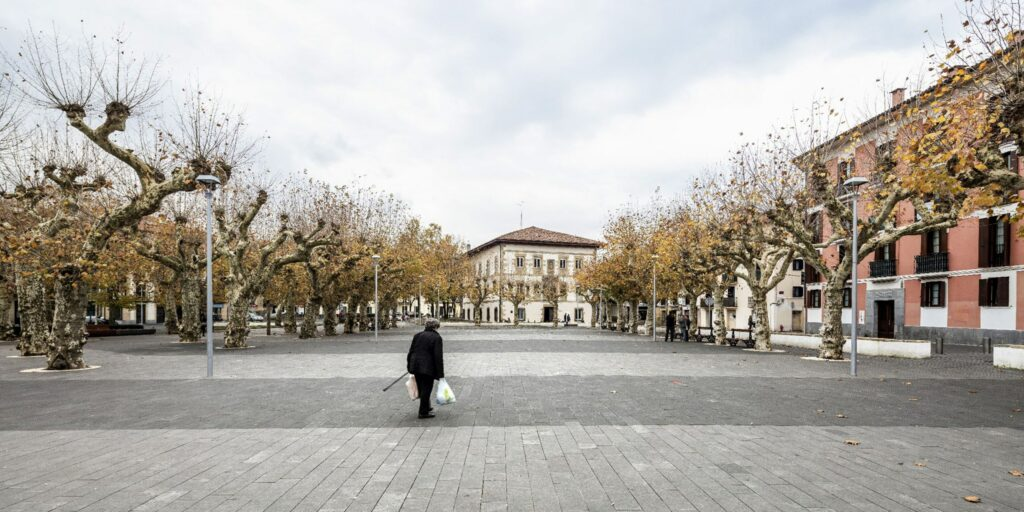 The plaza in the center of Irun