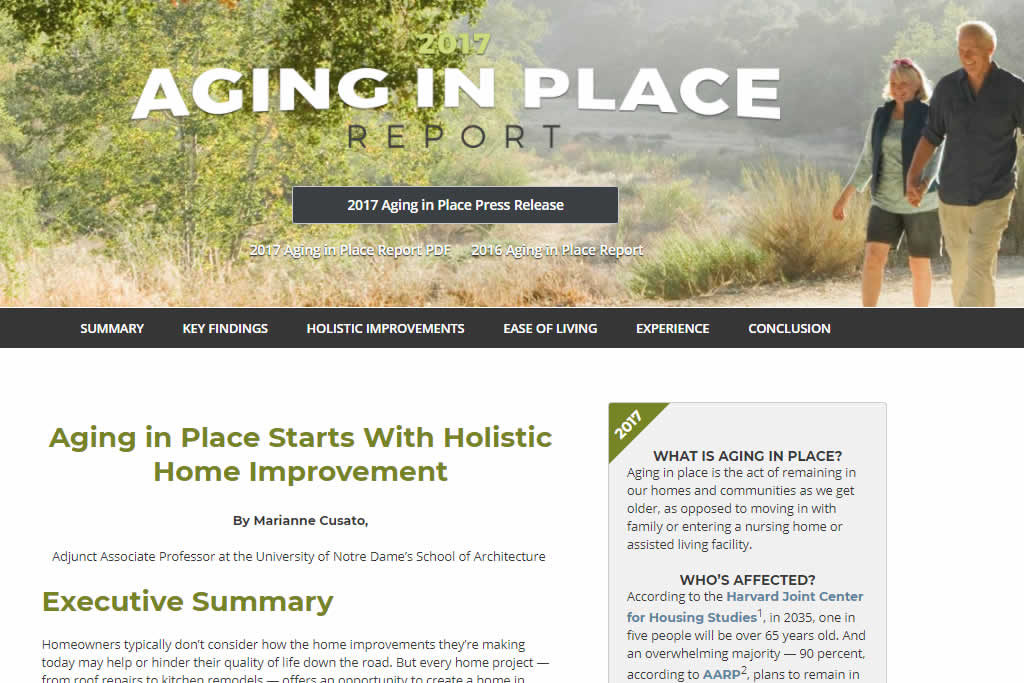 Aging in place survey