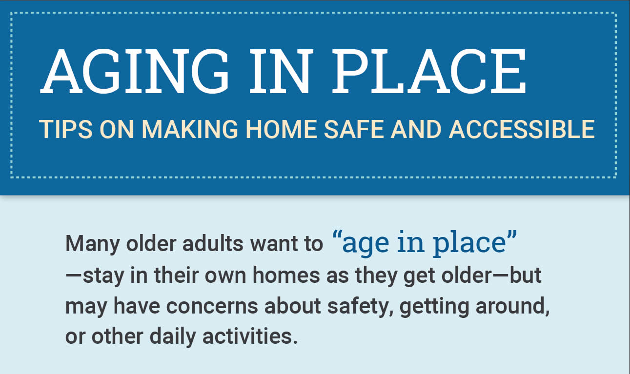 Aging in place tips - infographic