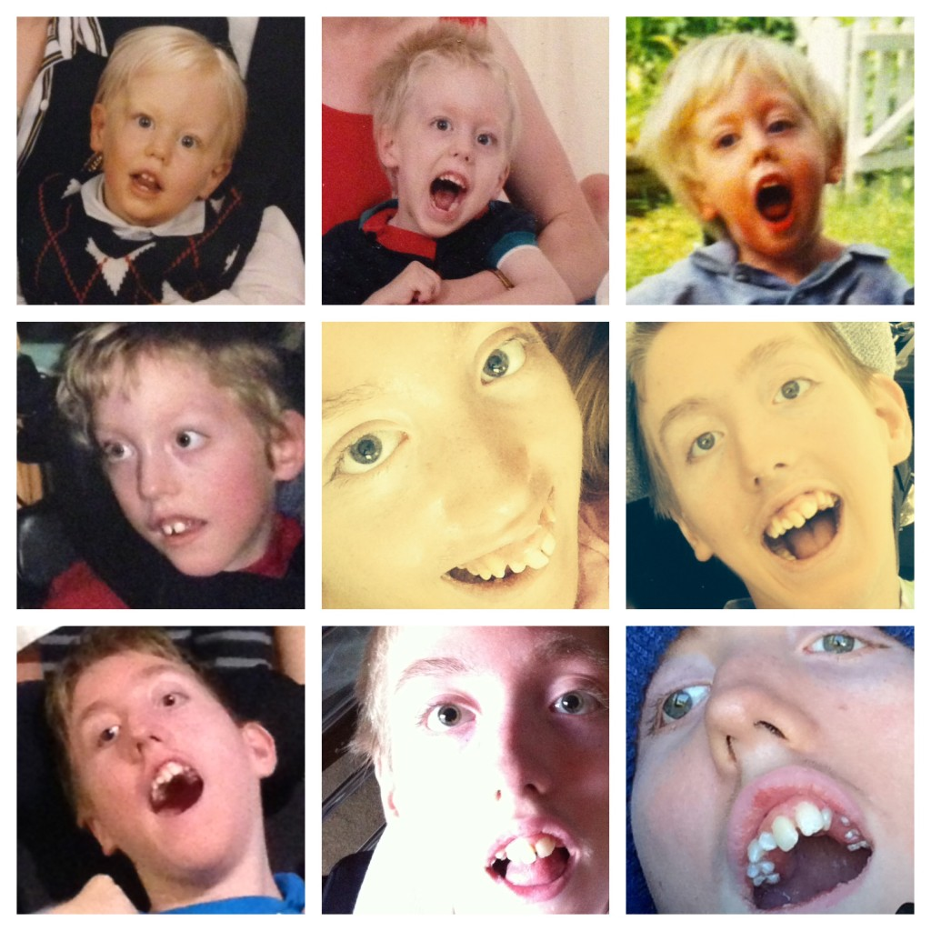 Mary is an avid photographer; here is a collage she created of the many faces of David Carver through the years...