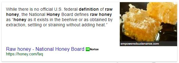 raw honey definition
