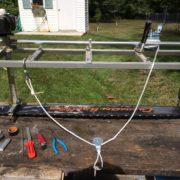 Alaskan chainsaw mill winch attachment