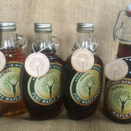 pure maple syrup tasting flight