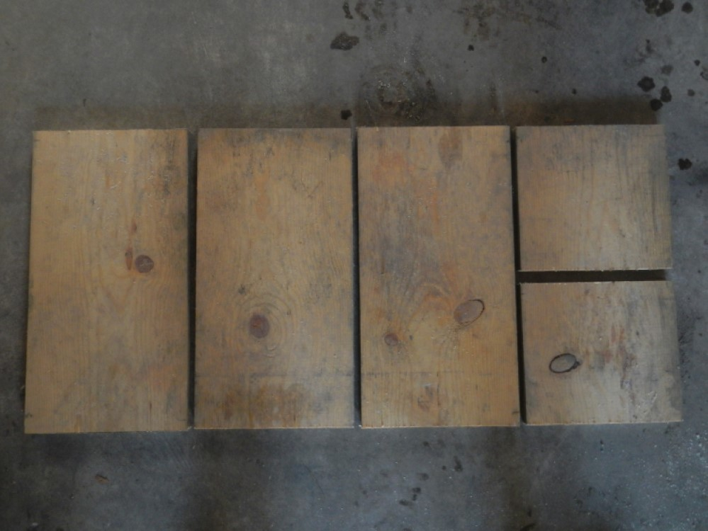 cuts made for drill storage and charging rack