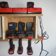 wall mounted drill charging storage