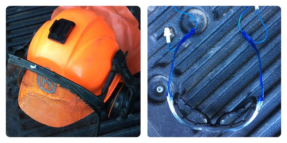 Forest Helmet + Safety Glasses and Plugs
