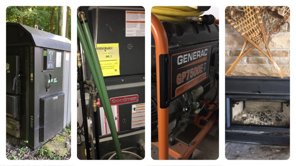OWB Furnace Generator Fireplace Insert collage