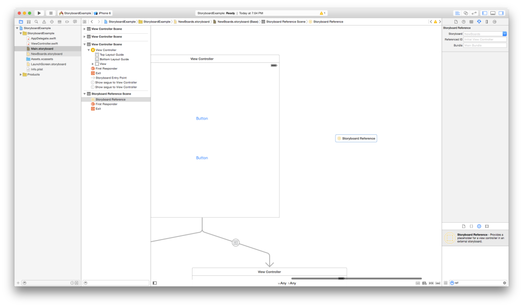 NewBoard with reference object