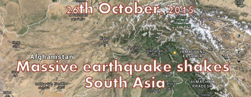 Massive earthquake shakes South Asia