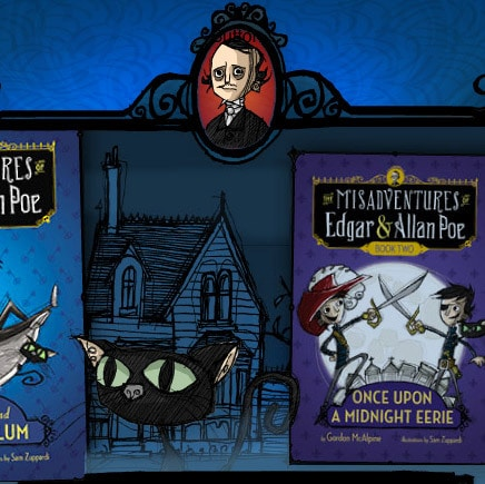 Interactive introduction for The Poe Boys Trilogy