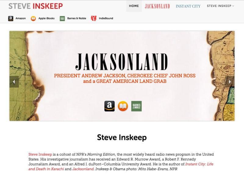 Design for Steve Inskeep, NPR