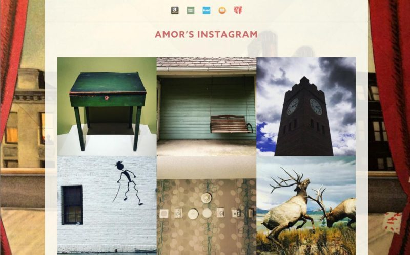 Instagram page for Amor Towles