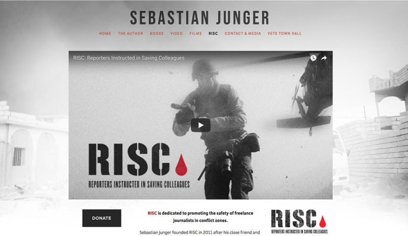 sebastian-junger-author-website-design