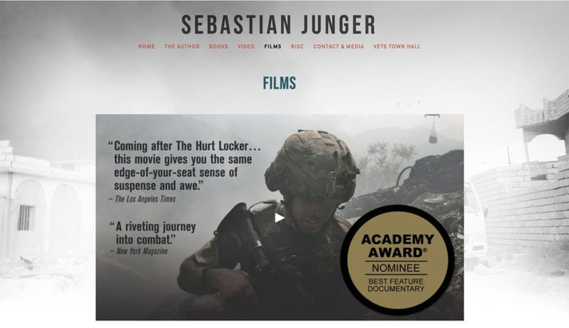 sebastian-junger-website-design