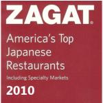 ZAGAT 2010 Award for Japanese Palace