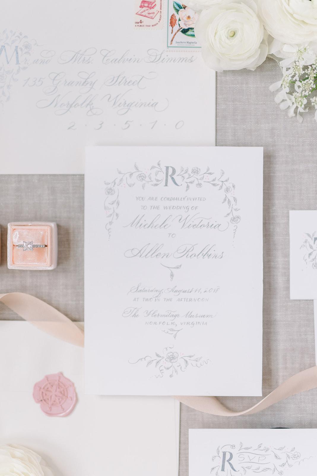 Paris inspired invitation suite