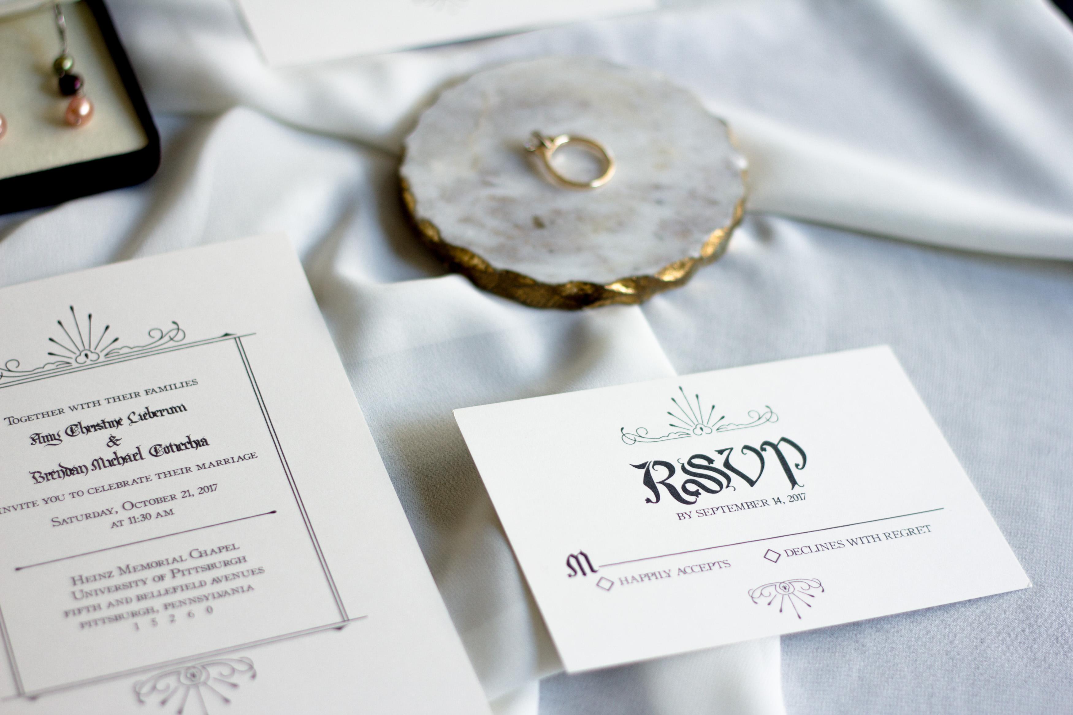 Allocco Design Norfolk, VA Calligraphy   Wedding Calligraphy Invitations