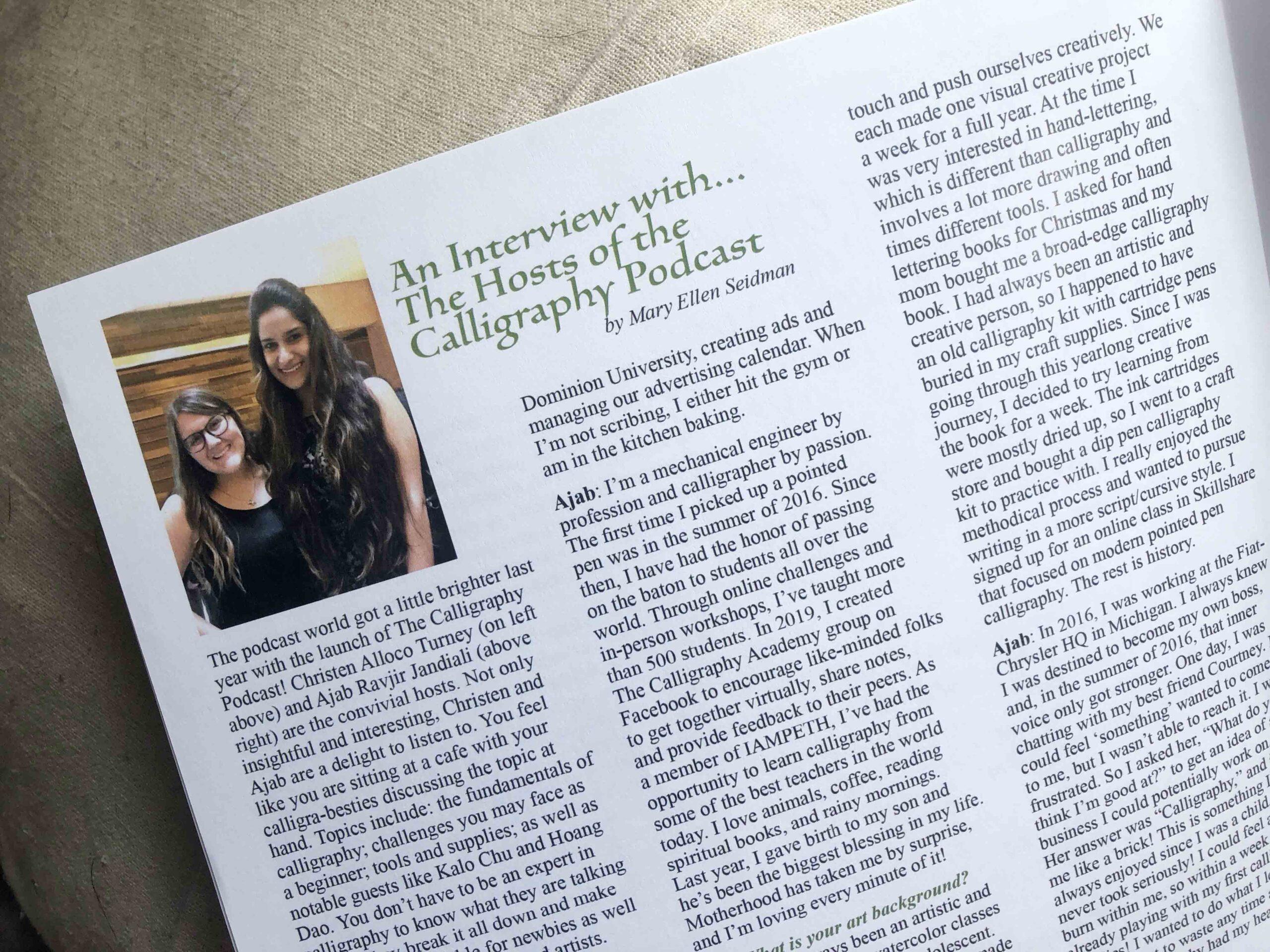 Allocco Design Norfolk, VA Calligraphy | Scripta Magazine Feature