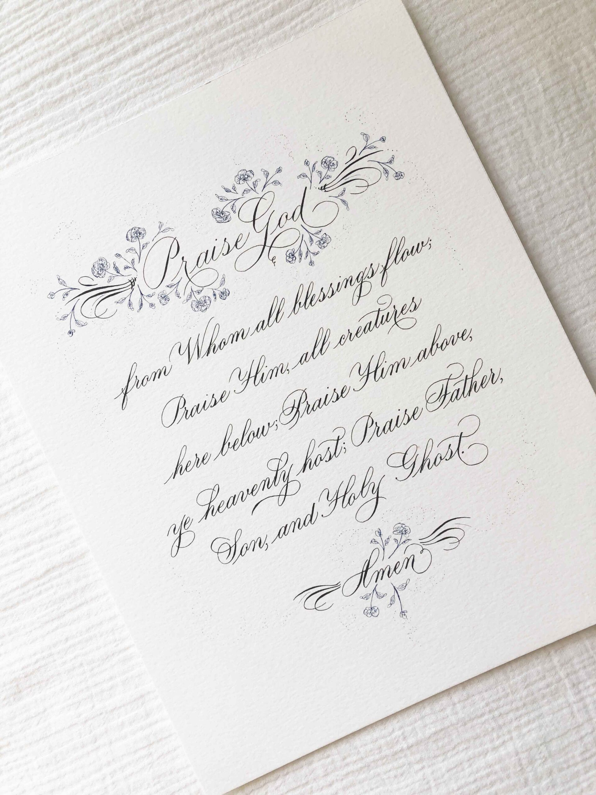 Allocco Design Norfolk, VA Calligraphy | Calligraphy Doxology