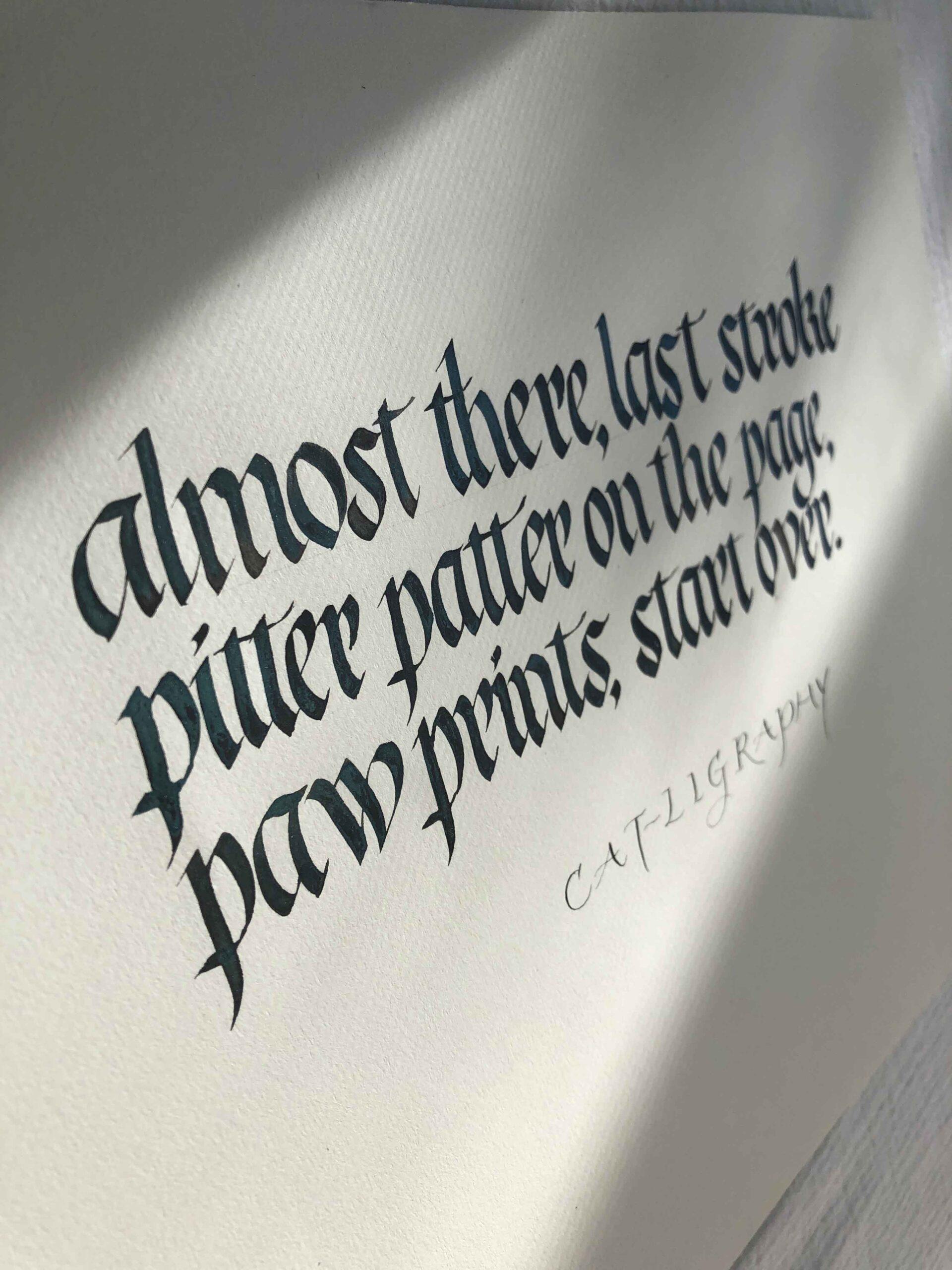 Allocco Design Norfolk, VA Calligraphy   Haiku Gothicized Italic