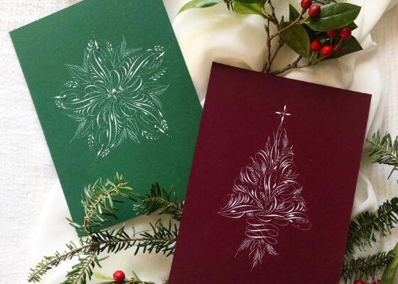 Flourished Christmas calligraphy