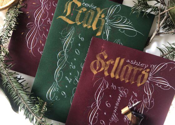 Flourished Christmas Envelopes