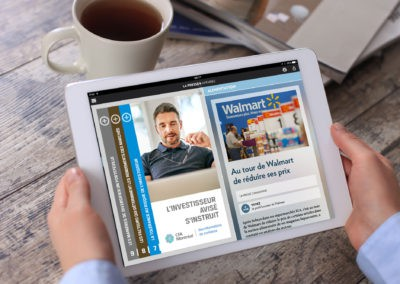 CFA Montreal ad in La Presse Plus on tablet