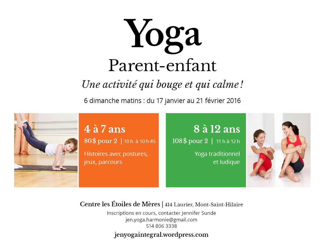 Annonce Session Yoga Parent-Enfant St-Hilaire