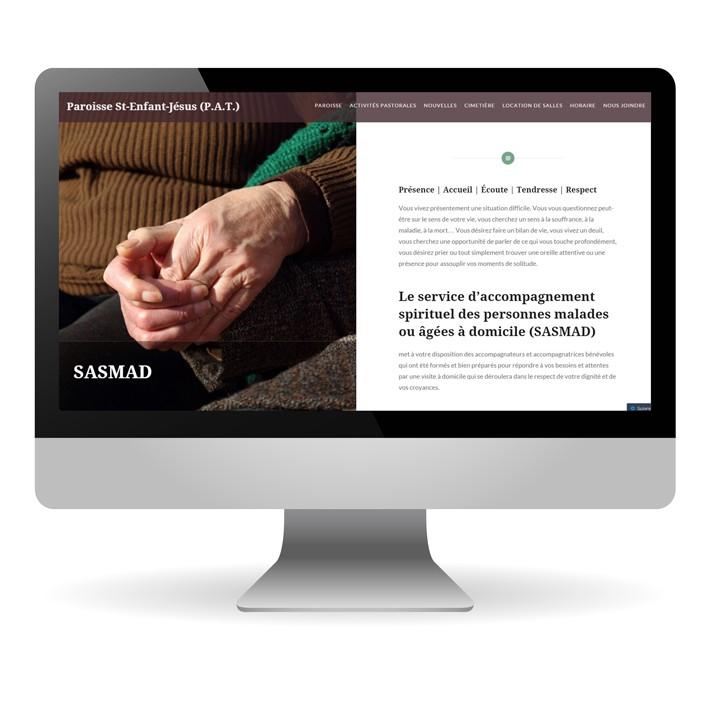 Paroisse-sej website on a mac