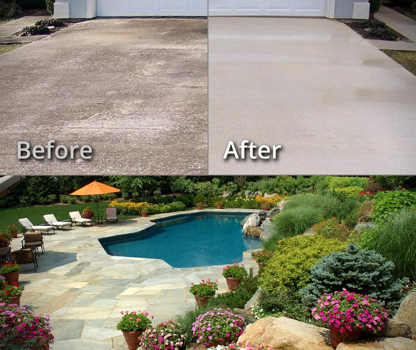 Concrete Pressure Washing, Limestone & Brick Cleaning