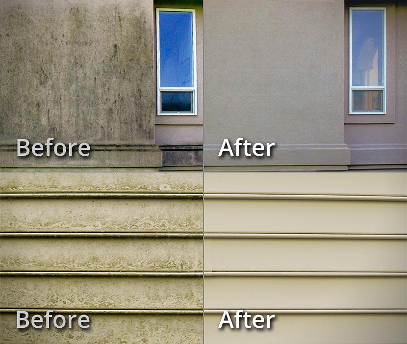 House Siding Cleaning Limestone Brick Soft Pressure Washing