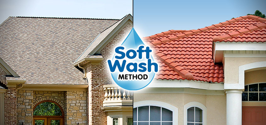 New Braunfels TX Roof Stain Cleaning Soft Pressure Washing