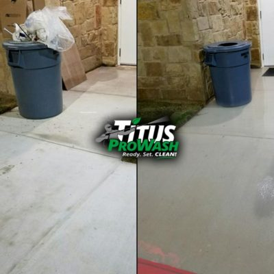 Commercial walkway cleaning Before & After!