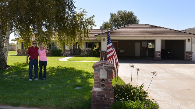 Tom and Kathy were amazed at how much home their money could buy here, compared to the Bay Area.