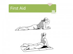 2 extension specific exercises for the early care of back pain to the leg.