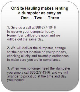 Dumpster Rental, Property Services, Junk Removal, Winter Protection