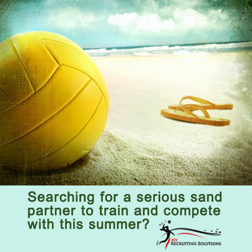 searching for a sand volleyball partner @ My Recruiting Solutions