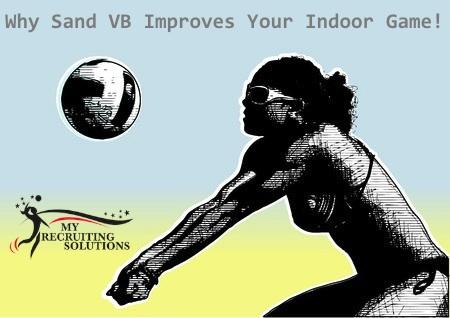 Sand VB Improves indoor game @myrecruitingsolutions