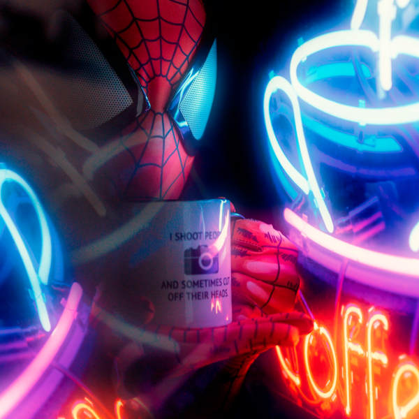 Neon Spidey Spiderman jt armstrong runngun