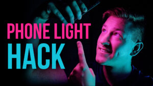 Phone LED Light HACK: How to Light COLORFUL Portraits with Your Smartphone