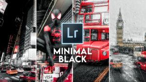 Minimal Black Look in Lightroom [FREE PRESET]