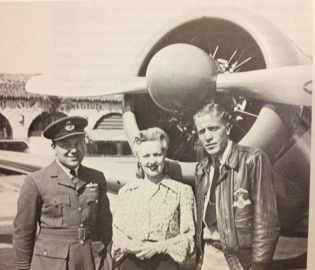 Stuart Mills, Betty Grable, Forrest M. Cox and S/N 17