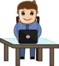 transcriptionist-transcribing on computer